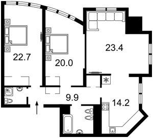 Apartment Dmytrivska, 82, Kyiv, Z-648525 - Photo2