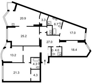 Квартира Хмельницкого Богдана, 58а, Киев, E-39445 - Фото2