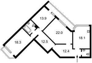 Квартира Вільямса Академіка, 5, Київ, R-32483 - Фото2