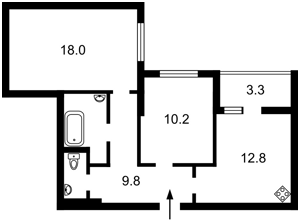 Квартира Радченко Петра, 27-29 корпус 2, Киев, Z-655848 - Фото2