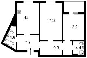 Квартира Леваневського, 9, Київ, Z-653519 - Фото2
