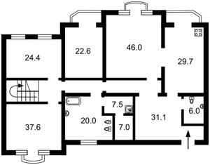 Квартира Паторжинського, 14, Київ, F-43128 - Фото2