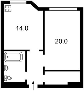 Квартира Мишуги Александра, 2, Киев, F-43130 - Фото 2