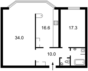 Apartment Tychyny Pavla avenue, 2, Kyiv, R-743 - Photo2