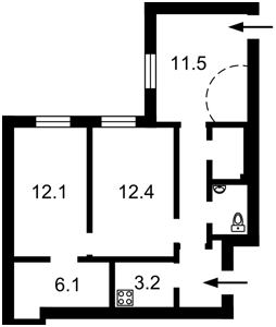 Квартира Саксаганского, 125, Киев, P-27980 - Фото2