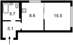 Квартира Шолуденко, 1а, Киев, Z-664654 - Фото2