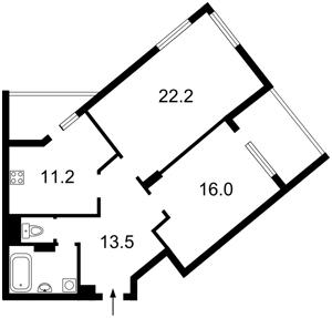 Квартира Туполєва Академіка, 17к, Київ, Z-535697 - Фото2