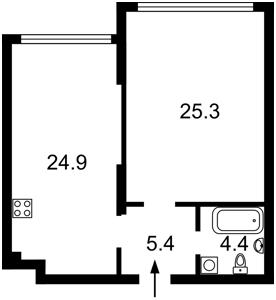 Квартира Оболонский просп., 26, Киев, Z-84463 - Фото2