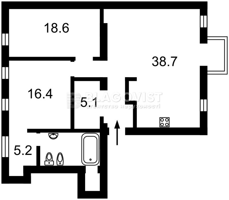 Квартира D-36181, Саксаганского, 5, Киев - Фото 2