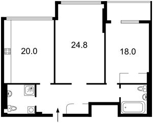 Квартира Драгомирова Михаила, 3, Киев, F-43225 - Фото2