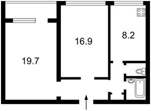 Квартира Тютюнника Василя (Барбюса Анрі), 22/26, Київ, R-33350 - Фото2