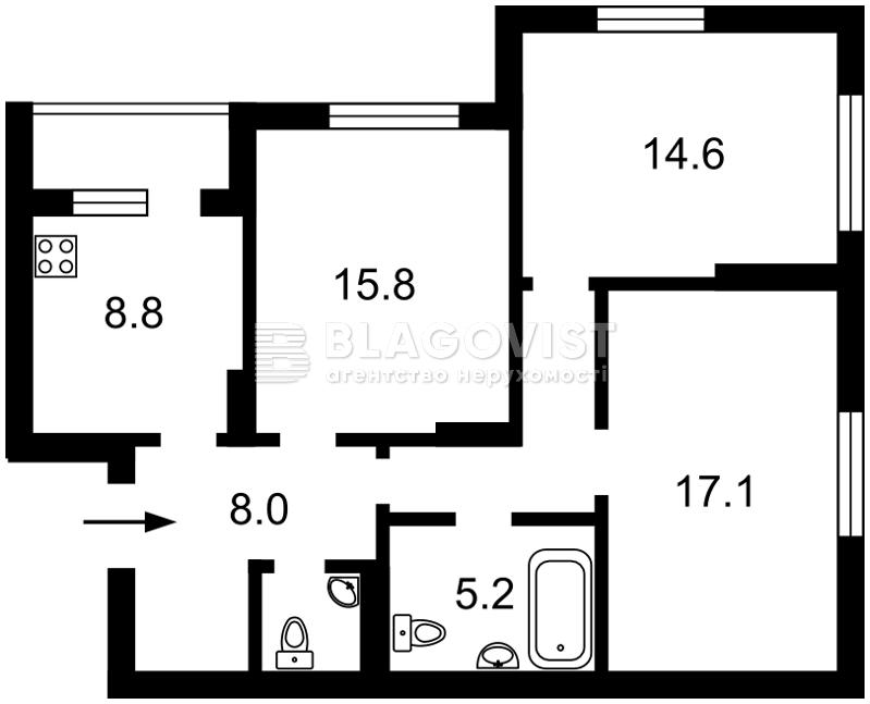 Квартира Z-708393, Хоткевича Гната (Красногвардейская), 8, Киев - Фото 4
