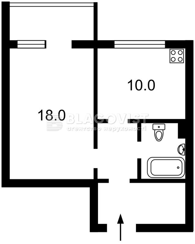 Квартира Z-669255, Драгоманова, 1к, Киев - Фото 4