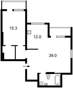 Квартира Туманяна Ованеса, 15а, Київ, Z-668507 - Фото2