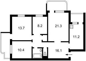 Квартира Тороповського Георгия (Дубового Ивана), 41, Киев, R-33316 - Фото2