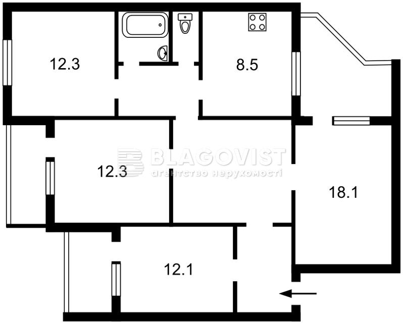 Квартира Z-667284, Ревуцкого, 11в, Киев - Фото 4
