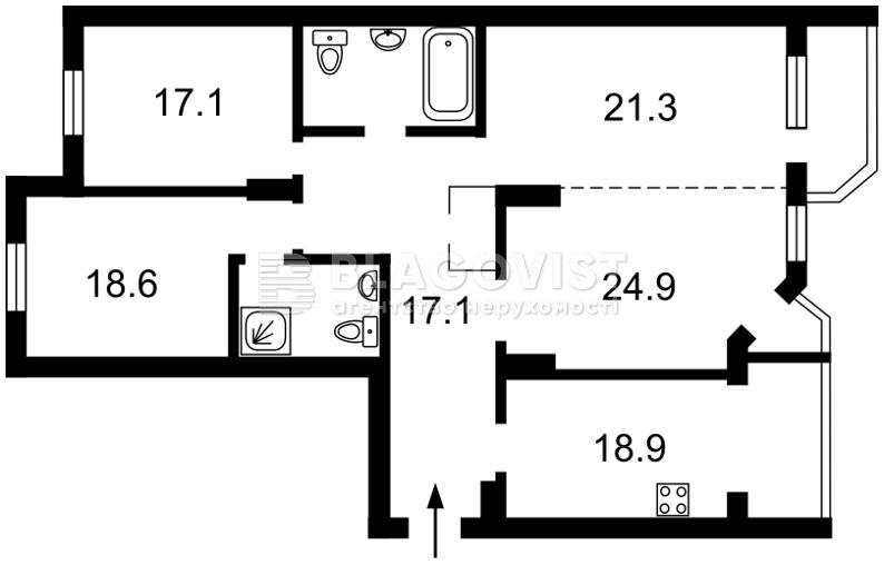 Квартира F-43287, Кудряшова, 16, Київ - Фото 5