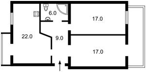Квартира Іоанна Павла II (Лумумби Патріса), 10 корпус 1, Київ, R-33536 - Фото2