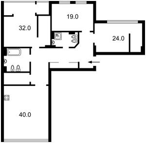 Квартира Коновальця Євгена (Щорса), 44а, Київ, E-39636 - Фото 2