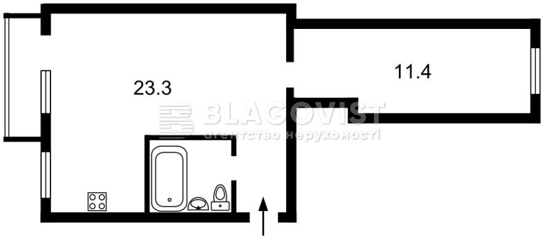 Квартира D-36261, Бойчука Михаила (Киквидзе), 30, Киев - Фото 3