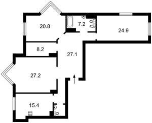 Квартира Драгомирова Михаила, 14а, Киев, Z-667994 - Фото2