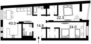 Квартира Коновальця Євгена (Щорса), 36в, Київ, F-43327 - Фото2