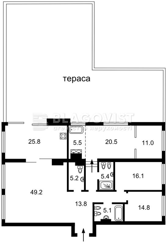Квартира M-37497, Бульварно-Кудрявська (Воровського), 15а, Київ - Фото 5