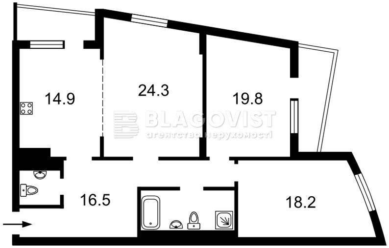 Квартира Z-670665, Окипной Раиcы, 10б, Киев - Фото 3