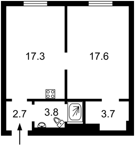 Квартира Ломоносова, 36в, Київ, Z-501579 - Фото2