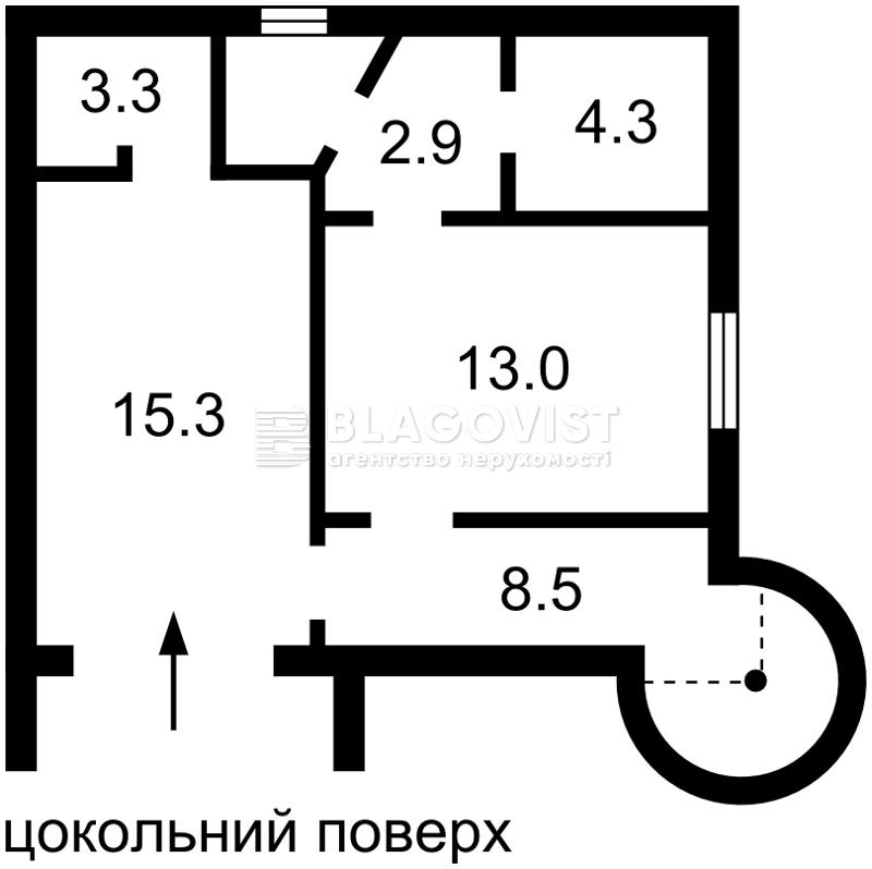 Дом R-33415, Малютянка - Фото 1