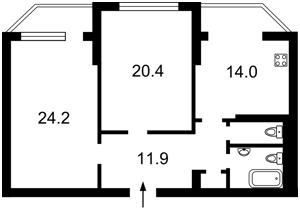 Квартира Котарбінського Вільгельма (Кравченка М.), 22, Київ, Z-602242 - Фото 2