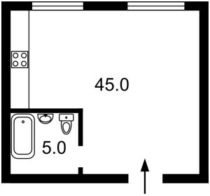 Квартира Тютюнника Василя (Барбюса Анрі), 37/1, Київ, Z-619900 - Фото2