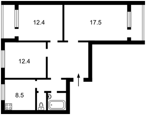 Квартира Глушкова Академіка просп., 19, Київ, Z-672639 - Фото2