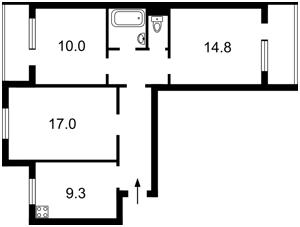 Квартира Руденко Ларисы, 7, Киев, M-37583 - Фото2