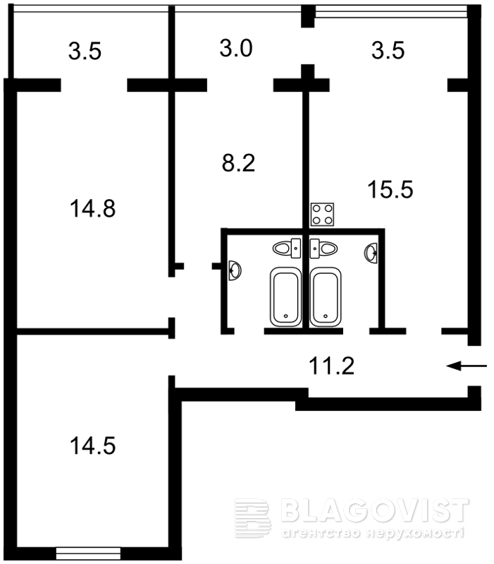 Квартира H-39560, Новогоспітальна (Щорса пров.), 5а, Київ - Фото 5