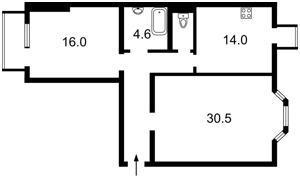 Квартира Гончара О., 88б, Київ, Z-579826 - Фото2