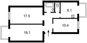 Квартира Антоновича (Горького), 123, Киев, Z-627103 - Фото2