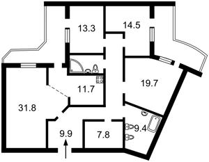 Квартира Срибнокильская, 12, Киев, D-36342 - Фото 2