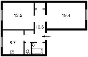 Квартира Лабораторный пер., 22, Киев, Z-673435 - Фото2