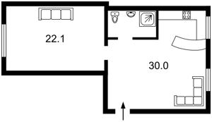 Apartment Melnykova, 6, Kyiv, F-43444 - Photo2