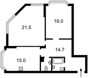 Квартира Ахматової Анни, 34, Київ, F-43483 - Фото2