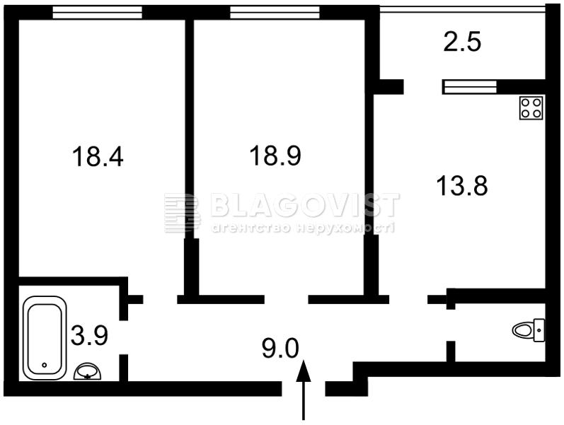 Квартира P-28341, Відрадний просп., 2, Київ - Фото 3