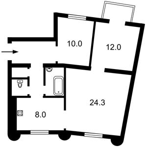 Apartment Saksahanskoho, 65, Kyiv, Z-540082 - Photo2