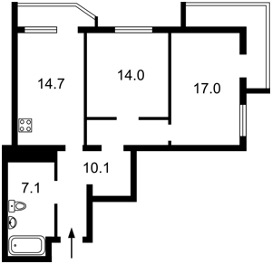 Квартира Бориспольская, 12в, Киев, H-47549 - Фото 2