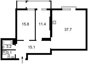 Квартира Коновальця Євгена (Щорса), 44а, Київ, R-7073 - Фото2