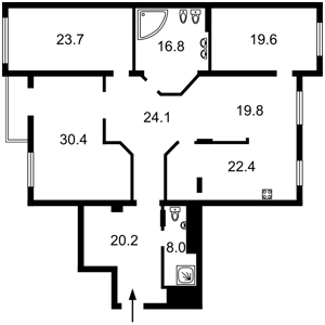 Apartment Kruhlouniversytetska, 3/5, Kyiv, Z-688949 - Photo2