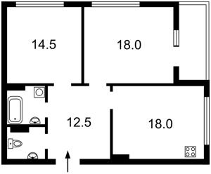 Квартира Конєва Маршала, 10/1, Київ, Z-681913 - Фото2
