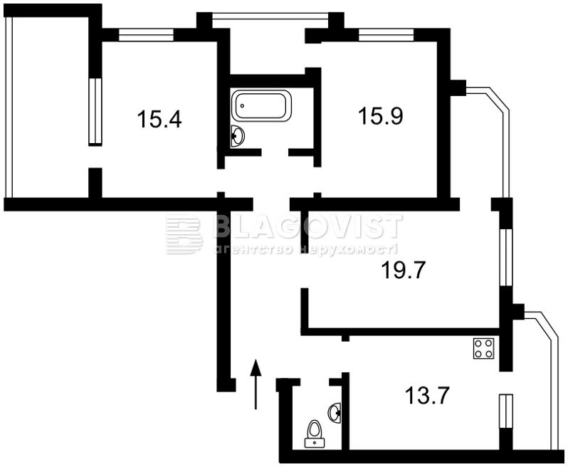 Квартира H-47553, Бориспільська, 12в, Київ - Фото 3