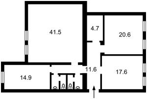 Квартира Заньковецкой, 7, Киев, M-37671 - Фото2