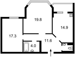 Квартира Княжий Затон, 2/30, Киев, Z-687950 - Фото2